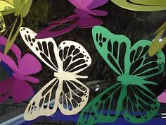laser cut butterflies.