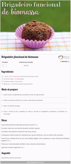 Brigadeiro funcional de biomassa - Blog da Mimis - Brigadeiro cheio de fibras é a nova sensação para emagrecer!!