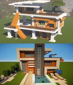 Minecraft Modern Mansion, Minecraft House Plans, Minecraft Cottage, Easy Minecraft Houses, Minecraft House Tutorials, Minecraft Room, Minecraft House Designs, Minecraft Decorations, Amazing Minecraft