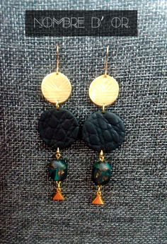 Polymer Clay Earrings with diffrent shapes and patterns.Handmade stone.