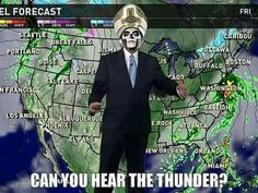 Can you hear the thunder?  I hate ghost but this one is funny