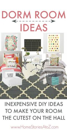 Great list of inexpensive and easy decorating ideas for your dorm room