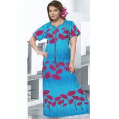 Check out our New Product  Aura Pure Cotton Printed  Blue Night Wear COD Aura Pure Cotton Printed  Blue And Pink Floral Design Night Wear NWPN2963XXLSIZE :XXL  ₹1,144