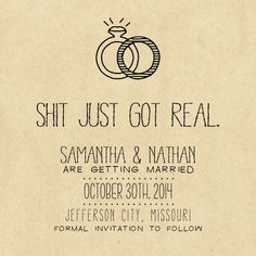 Funny save the date. Love it!