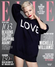Michelle Williams is the Cover Star of American Elle January 2017 Issue
