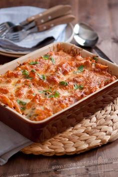 Chicken pasta bake- sounds delicious!  Will have to come up with a low-fat version that does not involve cheese!  Would substitute winter veggies for some of the penne pasta.