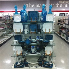 Awesome blue display at tj maxx