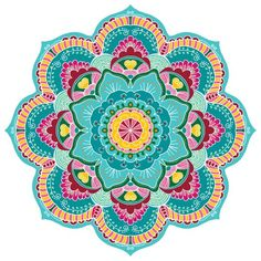 Large Wall Mandala Mural For Yoga Studio Large Mandala image 3 Star Coloring Pages, Mandala Coloring Pages, Coloring Tips, Mandala Wallpaper, Vinyl Floor Mat, Floor Mats, Wall Murals, Wall Art, Wall Decal