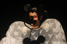 March 6, 2012. A model showcases a creation during a show called 'Memories of Mickey Mouse & Minnie Mouse' by Indian designers Little Shilpa and Nitin Bal Chauhan on the second day of Lakme Fashion Week (LFW) summer resort 2012 in Mumbai.