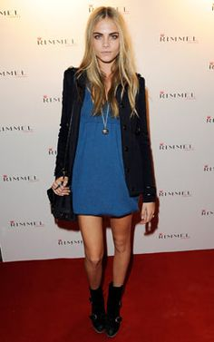 Cara Delevigne is one of our new style crushes - we're loving her eyebrows!