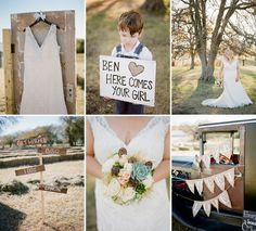 Budget Rustic Wedding Ideas love the idea of the little boy holding the sign :-)