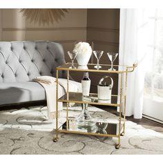 Safavieh Aurelius / Mirror Top Bar Cart