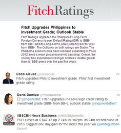 Fitch upgrades the Philippines to investment grade (BBB+)