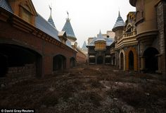 CHINA: Abandoned buildings in the ruins of 'Wonderland' just a 45 minute drive from the centre of Beijing.