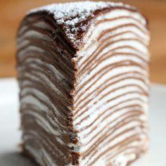 Schokoladen-Crepes-Kuchen   Dieser Schokoladen-Crepes-Kuchen wird dich hypnotisieren