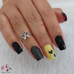 Glitter Gel Nails, Cute Acrylic Nails, Ongles Forts, Butterfly Nail Art, Black Nails, Coffin Nails, Nail Art Designs, Styles, Makeup