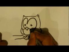 How to Draw a Owl - Owl Drawings