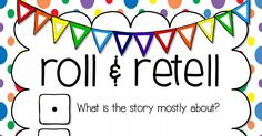 Roll & Retell PDF   Roll the dice for book club discussions