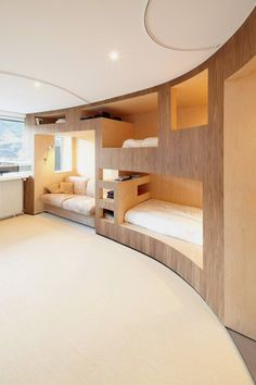 Interior Design for Small Apartment with Many Beds in Menuires Ski Resort, France