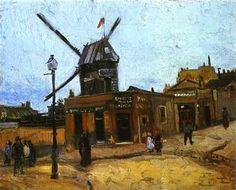 Le moulin de la galette 1 est une des toiles du peintre Vincent Van Gogh, grand artiste peintre Hollandais du 19e siècle.