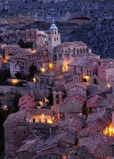 Albarracin at night - Teruel, Spain