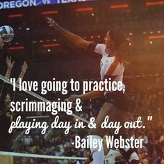 See how Texas Longhorns' Bailey Webster learned to love the game of volleyball Volleyball Motivation, Volleyball Memes, Basketball Quotes, Volleyball Players, Basketball Jersey, Athlete Motivation, Softball, Athlete Quotes, Team Quotes