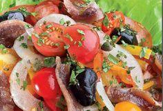 Salade poivrons, tomates et anchois