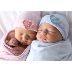 TWIN BABY HAT- twin newborn hat- twin hospital hat- twin hat- twins-... ($20) ❤ liked on Polyvore featuring kids