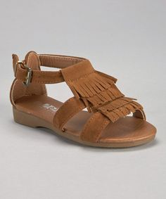 Tan Tiered Fringe Sandal by Shoes of Soul #zulily #zulilyfinds