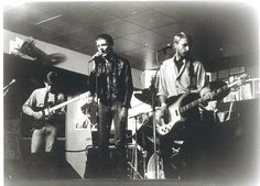 Joy Division - scan of early promo glossy photo, perhaps live Oct 1978 Factory I, Manchester