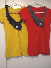 McKell's Closet: Ruffle Necktie Tee Tutorial