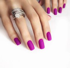 "If you're unfamiliar with nail trends and you hear the words ""coffin nails,"" what comes to mind? It's not nails with coffins drawn on them. It's long nails with a square tip, and the look has. Types Of Nails Shapes, Different Nail Shapes, Nails Types, Short Nail Designs, Cool Nail Designs, Art Designs, Cool Nail Ideas, Matte Nails, My Nails"