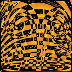 Awesome op art maze of the Aries zodiac sign.