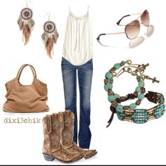 tan and turquoise...the go to for a night out.