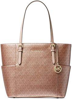 ad55b9831aed Michael Kors Handbag Women's   Jet Set Travel Small Logo   Michael Kors Tote  Handbag   Product description This classic carryall is just the ticket for  ...