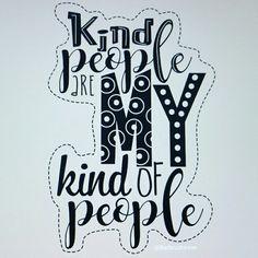 Kind people ☆ handlettering by @Barbrusheson