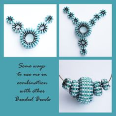 Set of 10 INI MINI Beaded Beads Turquoise by GreenEnvyDesigns