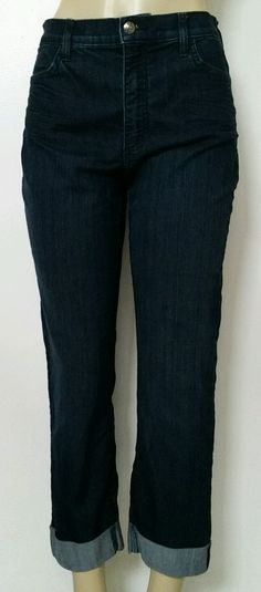 EUC XX NYDJ Not Your Daughter's Jeans 14P Petite Blue Ankle Crop Stretch Cropped #NotYourDaughtersJeans #CapriCropped