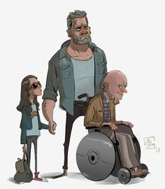 ArtStation - Laura, Logan and Chuck, Billy Yong