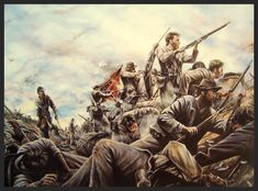 The Bloody Lane by Dan Nance - The Confederate defense of the Sunken Road at the Battle of Antietam, September 17, 1862