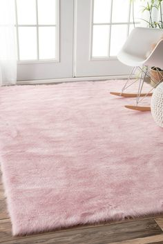 Nuloom Cozy Soft And Plush Faux Sheepskin Kids Nursery Pink Rug X 18016372 Great Deals On Rugs Mobile