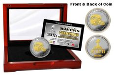 Baltimore Ravens Super Bowl XLVII Champions 2-Tone Coin $99.95 #MadeinUSA #sb47 #Mancave #gifts CLICK IMAGE TO BUY NOW