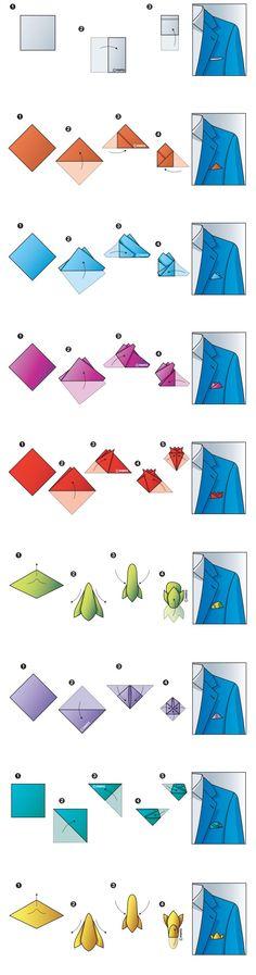 Jak složit kapesníček do saka 1
