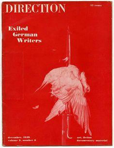 Modernism101.com | DIRECTION Volume 2, No. 8, December 1939. John Heartfield photomontage cover design; Exiled German Writers Issue.