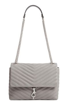 976ba1b98ad3 Rebecca Minkoff Edie Flap Quilted Leather Shoulder Bag