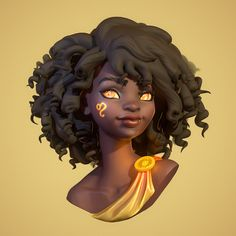 Leo, Megan Gritzfeld Female RPG character with gold eyes – could be an Aasimar? Looks like a Greek / Roman god Leo, Megan Gritzfeld 3d Model Character, Female Character Design, Character Modeling, Character Design Inspiration, Character Art, Zbrush Character, 3d Modeling, Character Concept, Black Girl Art