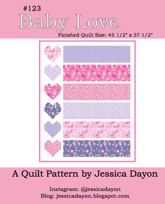 Today, I am excited to share a new, free, baby quilt pattern- Baby Love! This quilt pattern is super fast and super fun. Quilt Patterns Free, Baby Patterns, Free Pattern, Baby Girl Quilts, Girls Quilts, How To Sew Baby Blanket, Rag Quilt, Easy Quilts, Quilting Tips