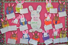 Easter Bunny Board with Thinking Map, Bunnies and Writing