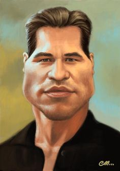 Val Kilmer is another actor that does not get credit due for his performances - I believe him to be one of the finest actors and yet we hear very little about him. one o my favourite actors Funny Caricatures, Celebrity Caricatures, Celebrity Drawings, Cartoon Faces, Funny Faces, Cartoon Art, Val Kilmer, Caricature Artist, Caricature Drawing
