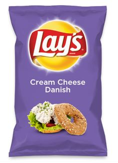 Again, I would totally go with a different pic on the label, but wouldn't Cream Cheese Danish be yummy as a chip? Lay's Do Us A Flavor is back, and the search is on for the yummiest flavor idea. Create a flavor, choose a chip and you could win $1 million! https://www.dousaflavor.com See Rules.